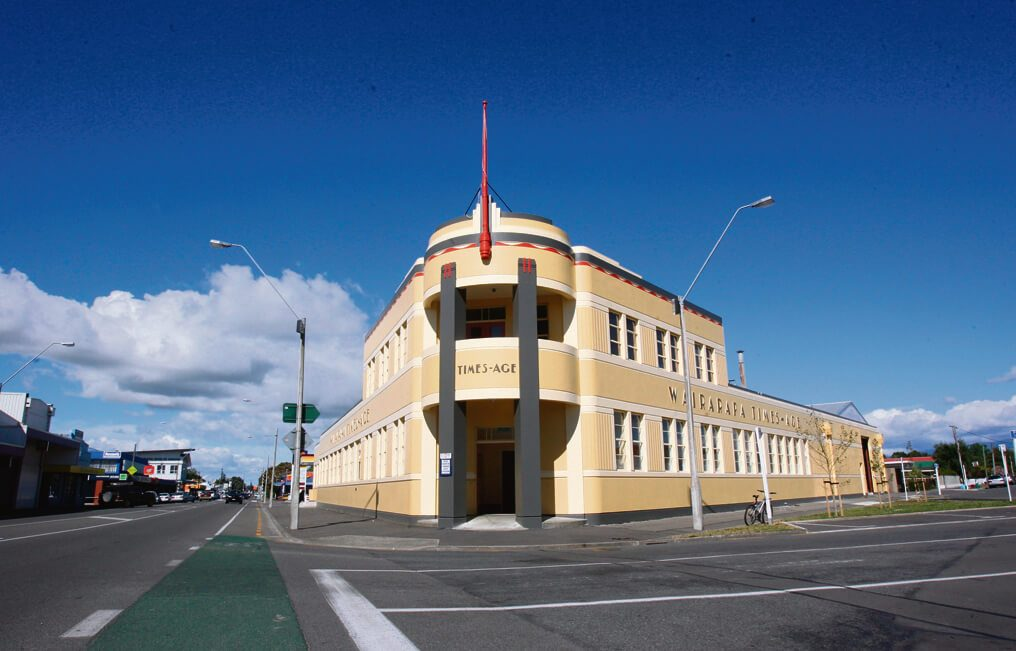 The Wairarapa Times-Age Building on the corner of Chapel and Perry Streets Masterton
