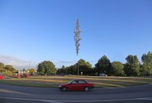 A computer-generated image of Neil Dawson's Ascension sculpture for Masterton's northern roundabout. PHOTO/SUPPLIED