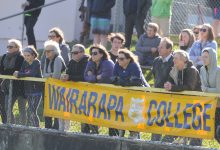 The tense looks on the faces of these Wairarapa College supporters tell the story of an enthralling final. Photo/Walt Dickson.