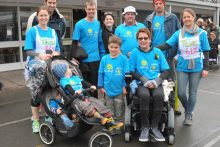 Lakeside walkers show support