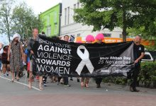 White Ribbon Walk a mile in her shoes in Masterton. PHOTO/EMILY NORMAN