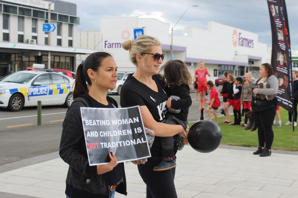 Participants walked from Countdown in Masterton to the Town Square. PHOTO/EMILY NORMAN