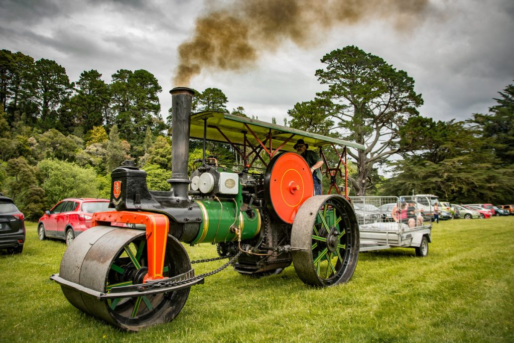 1920 steam roller, owed by the Masterton District Council, driven by Alec Birch. PHOTO/JADE CVETKOV