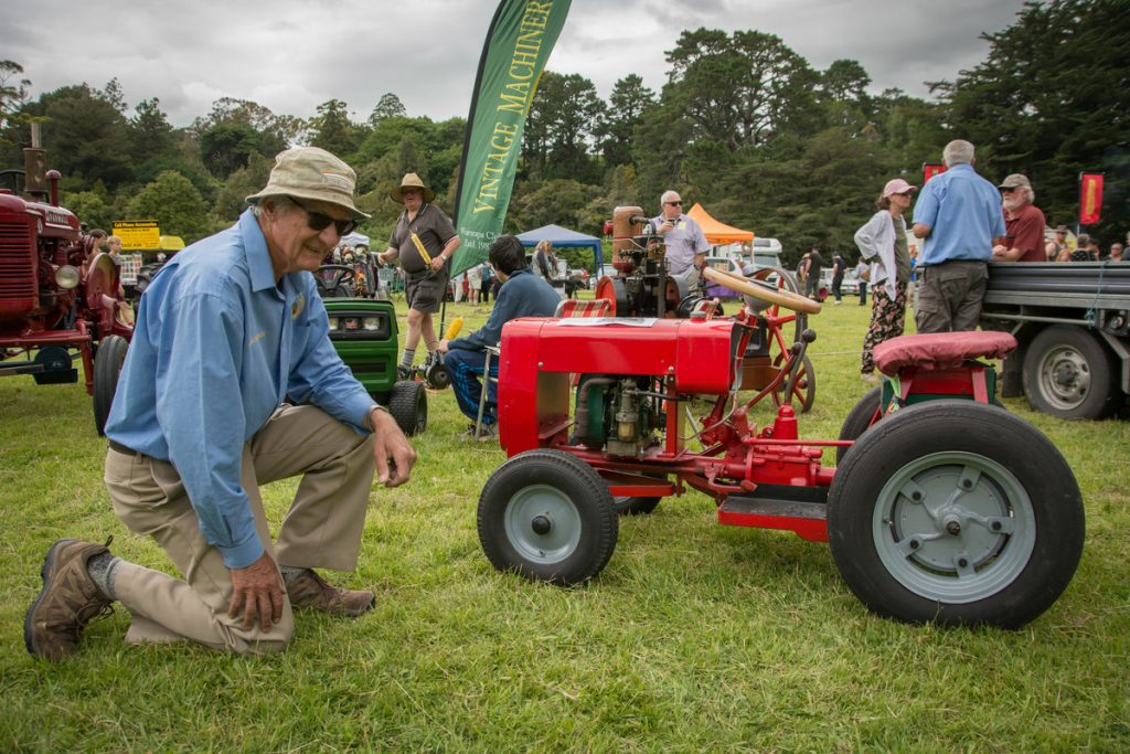 Dave Tulloch gave this tiny tractor to his son Andrew on his 5th birthday in 1965. John thompson (above) did it up in 7 months. PHOTO/JADE CVETKOV