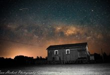 A shot of a meteor shower snapped just north of Masterton. PHOTO/SEAN HERBERT