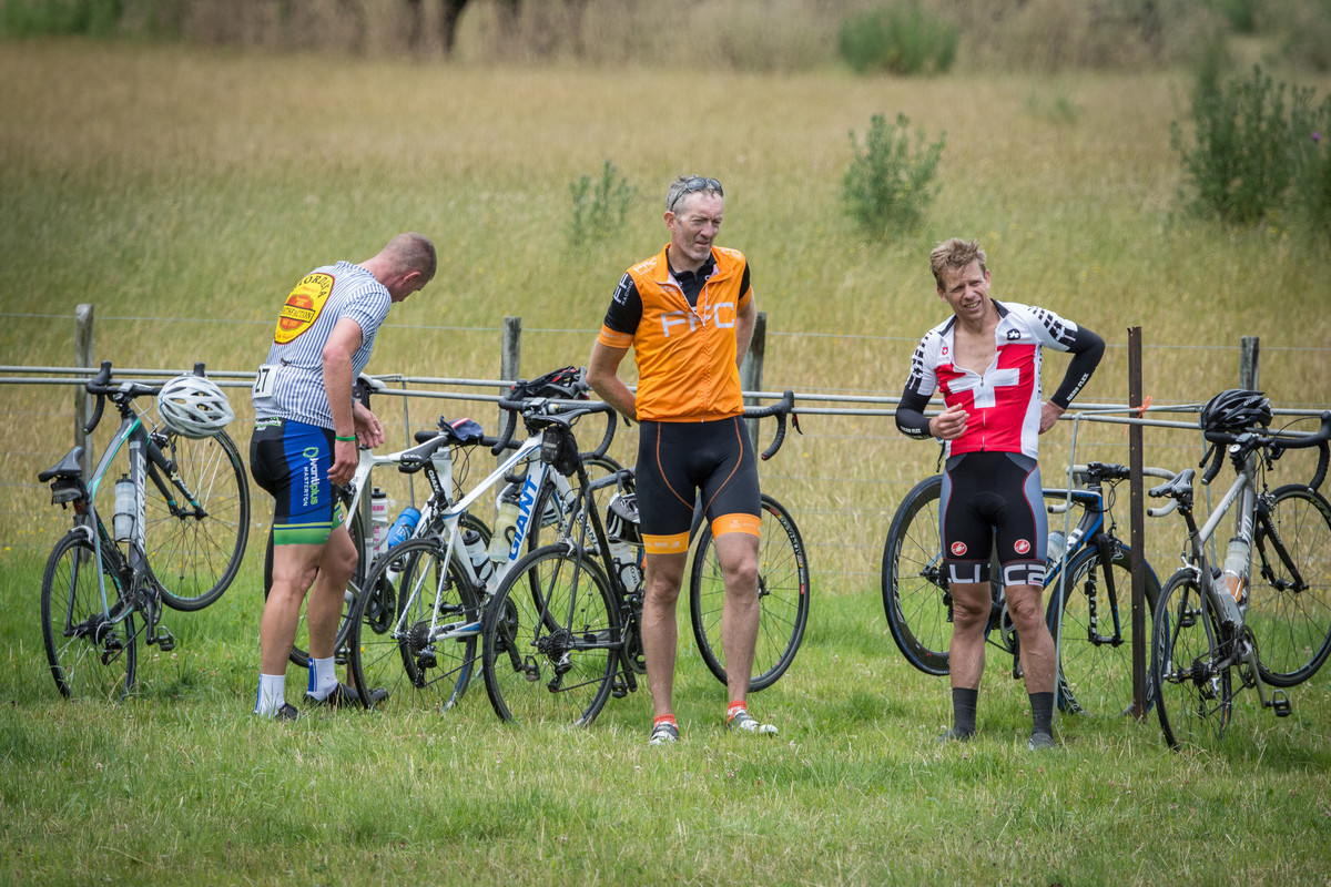Cyclists rest after the Pedal for Parkinson's ride. PHOTO/JADE CVETKOV