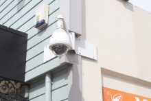 Kuripuni security camera being fixed