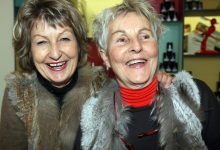 Sisters Nicky Brindle and Sue Wright.