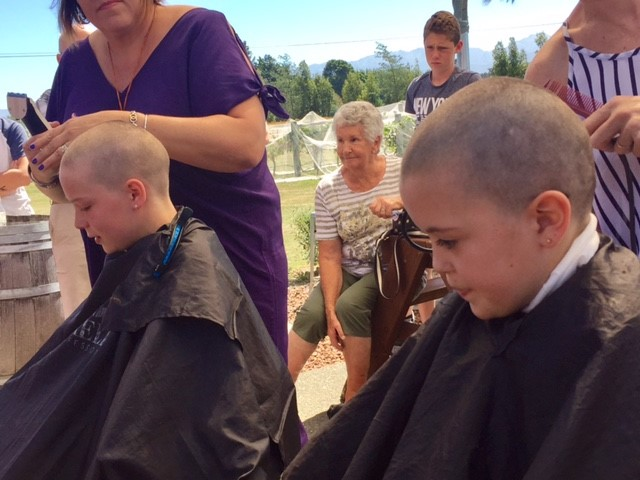 Heads shaved for a good cause