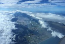 A snapshot of the view from the glide which began and ended in Greytown and spanned between Hawkes Bay and the Cook Strait.