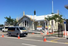 Carterton Courthouse is currently undergoing renovations. PHOTO/CHELSEA BOYLE
