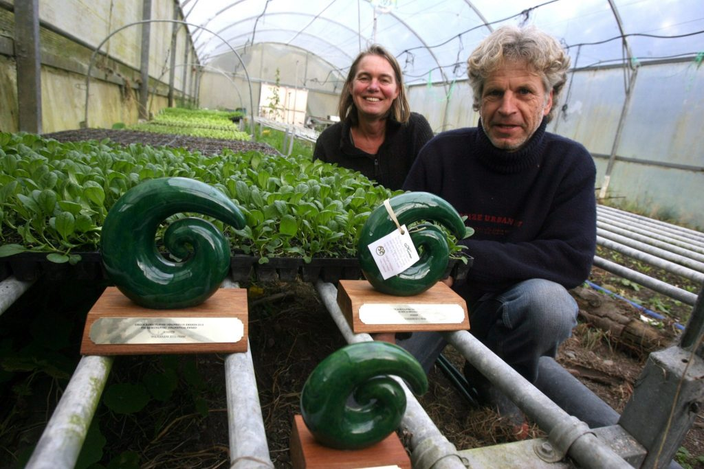 Wairarapa Eco Farms founders Frank van Steensel and Josje Neerincx received three Green Agriculture Innovation Awards (GAIA) in 2014. PHOTO/FILE