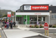 Featherston's Supervalue supermarket, part of the 'Featherston Gateway' complex built by Trust House. PHOTO/FILE