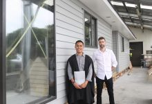 New UCOL graduate Neal Mijares alongside his tutor Richard Sexton. PHOTO/CHELSEA BOYLE