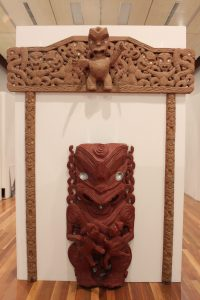 Carvings by Takirirangi Smith. PHOTO/EMILY NORMAN