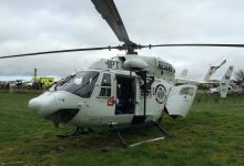 The Palmerston North Rescue Helicopter, which airlifted a woman, 17, to hospital after her ute flipped.