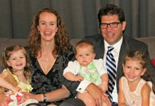 Mark Bridges and his wife Juliet with their three young daughters. PHOTO/SUPPLIED