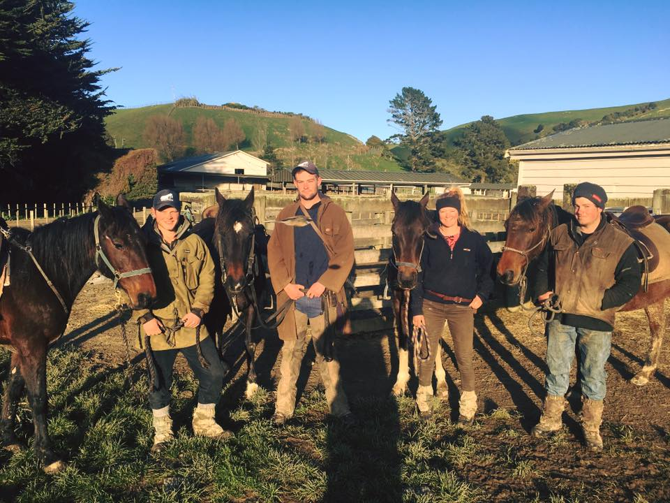 The Wairere Rams team heading out for the first day of lamb tagging last year.PHOTO/SUPPLIED