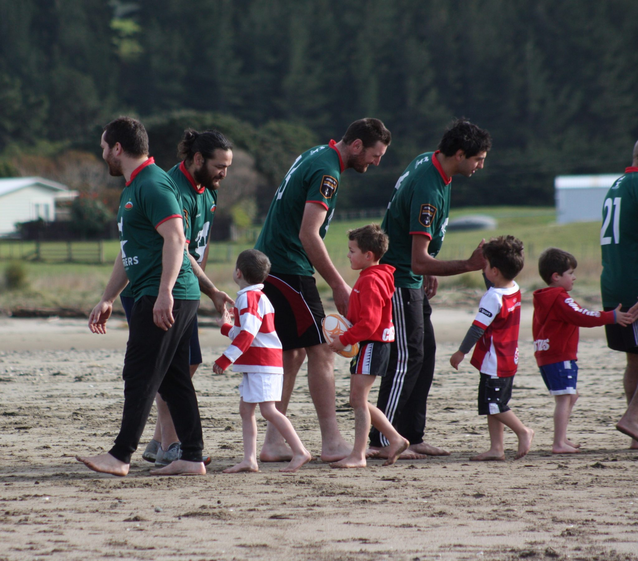 Not many kids can say they played rugby with a former All Black. PHOTO/KJ LIDDLE