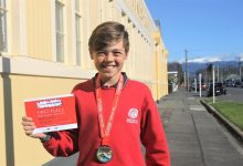 Masterton Intermediate School's Jack Hunter won a cross-country event at the AIMS Games in Tauranga. PHOTO/CHELSEA BOYLE