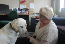 Donna Laing and her new guide dog Kenzie. PHOTO/EMILY NORMAN