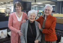 National Council of Women members Sharynne Fordyce, left, Halina Kania, and Lynette Stutz. PHOTO/EMILY NORMAN