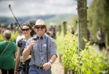 Dapper wine-lovers check out the vineyards in Martinborough. PHOTO/MIKE HEYDON