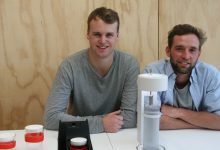 Jack Anderson (left) and Jeremy Gardiner with their Refresh design. PHOTOS/SUPPLIED