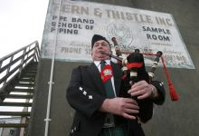 Fern & Thistle Pipe Band's former Pipe Major John Frater. PHOTO/FILE