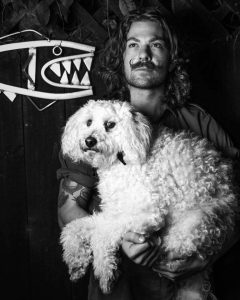 Sam Dowdall and his poodle cross Bo. PHOTO/SUPPLIED