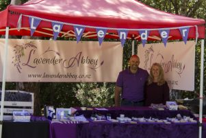 Stuart and Jan Abernethy of Lavender Abbey in Carterton. PHOTO/SUPPLIED