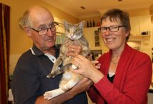 Bill and Penelope de Boer with Jemima, who a vet discovered had been shot. PHOTO/HAYLEY GASTMEIER