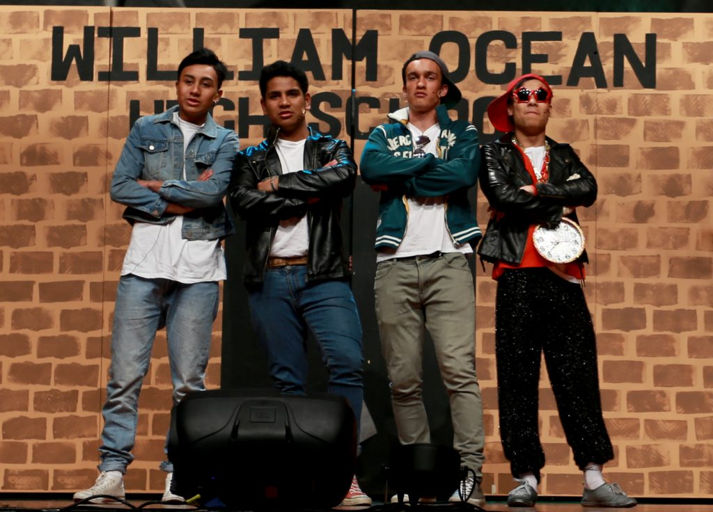 The coolest cats in school at William Ocean High (L-R): Anthony Tamakehu, Tua Levi, Jonas Tamihana and James Robertson. PHOTO/SUZANNE OLIVER