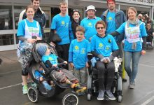 Family turned out in force for Liz Anderson at the MND charity auction and walk at Lakeview School Masterton on Sunday. From left at back, Lisa Charles, Simon Charles, Kieran Anderson, Annabel Anderson, Neil Anderson, James Wyeth, Katie Wyeth; front from left, Oliver Charles, Sam Charles (pushchairs), Lachie Anderson and Liz Anderson.