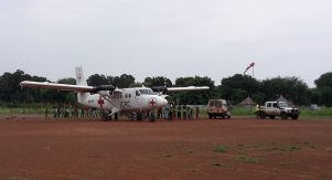 An ICRC plane used for medical evacuation and transportation of supplies and staff. PHOTO/SUPPLIED