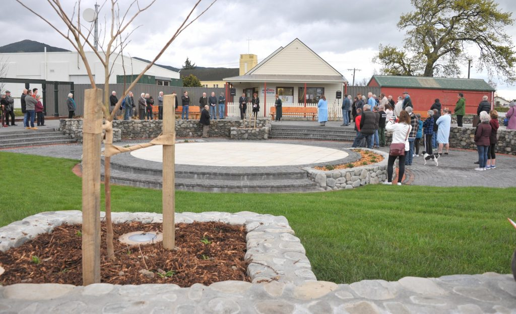 Opening of the Featherston Town Square, Saturday, over view of the opening. PHOTO/CHRIS KILFORD