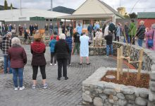 The Featherston Town Square was officially opened on Saturday morning. PHOTO/CHRIS KILFORD