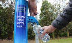 Masterton District Council's fluoride-free water tap at the top of Lansdowne in Manuka St. PHOTO/EMILY NORMAN