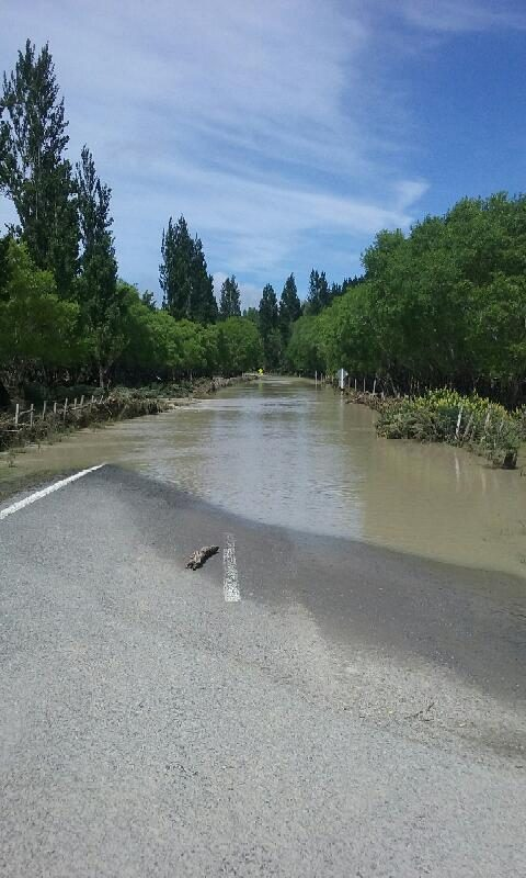 Heavy rain in Wairarapa overnight on Monday caused significant flood waters in Tuturumuri. PHOTO/SUPPLIED