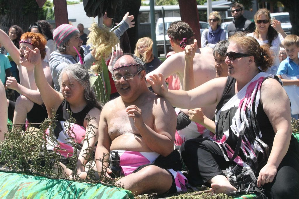 IDEA services kapa haka performers feeling the festive buzz. PHOTO/GERALD FORD