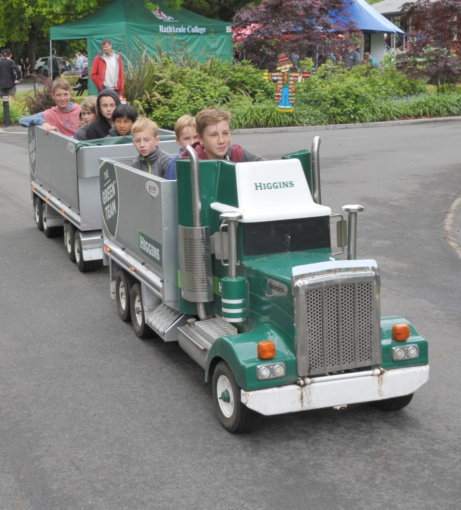 The Green Team truck ride proves a popular attraction. PHOTO/CHRIS KILFORD