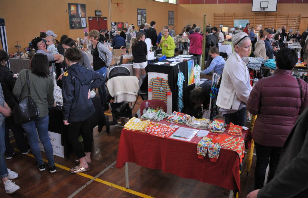 Rathkeale College Christmas Fete, Saturday, some stallholders took shelter indoors. PHOTO/CHRIS KILFORD