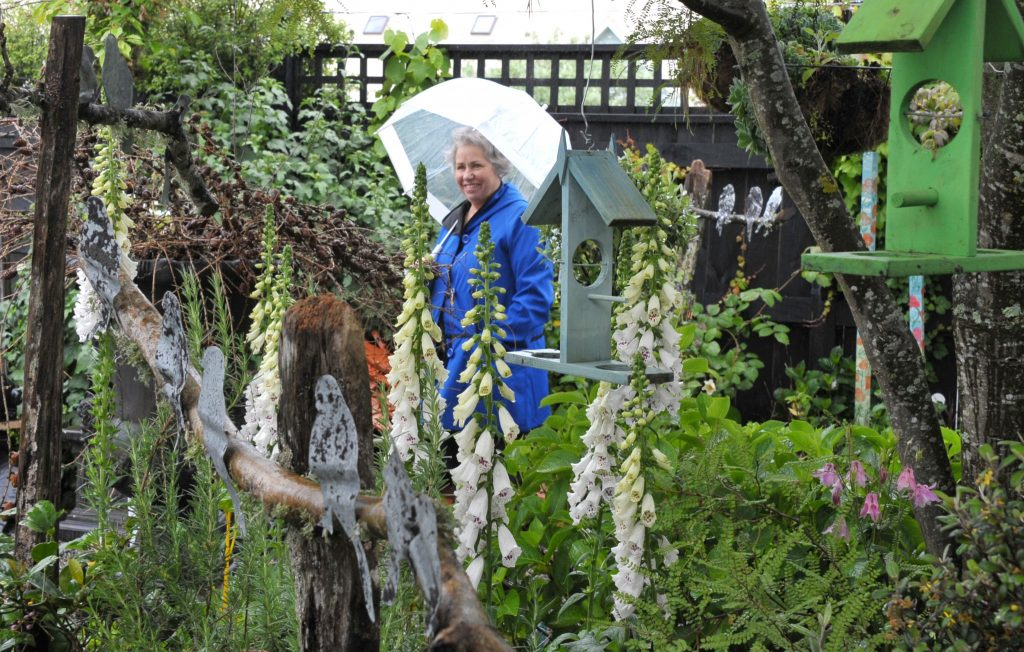 Wairarapa Garden Tour, Greytown, Saturday, Catherine Gibbs (Whitby) at Grand Illusions garden Greytown. PHOTO/CHRIS KILFORD