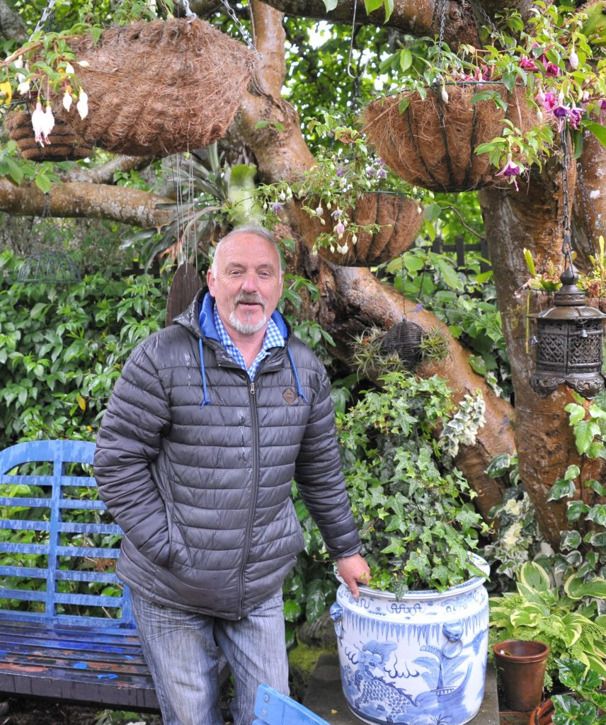 Wairarapa Garden Tour, Greytown, Saturday, Grand Illusions garden owner Craig Thorburn. PHOTO/CHRIS KILFORD
