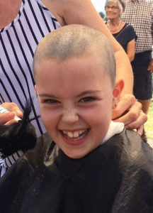 Lily Allan after her head was shaved. PHOTO/SUPPLIED