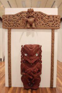 Carvings by Takirirangi Smith. PHOTO/EMILY NORMAN