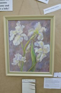 White Iris, oil on canvas by Diane Squires. PHOTO/EMILY NORMAN
