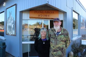 Pongaroa Store owners Jackey and Gilby Lowe. PHOTO/EMILY NORMAN