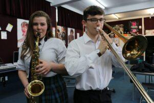 Wairarapa College students, Molly O'Hagan, 17, and Byron Bunny, 17. PHOTO/HAYLEY GASTMEIER