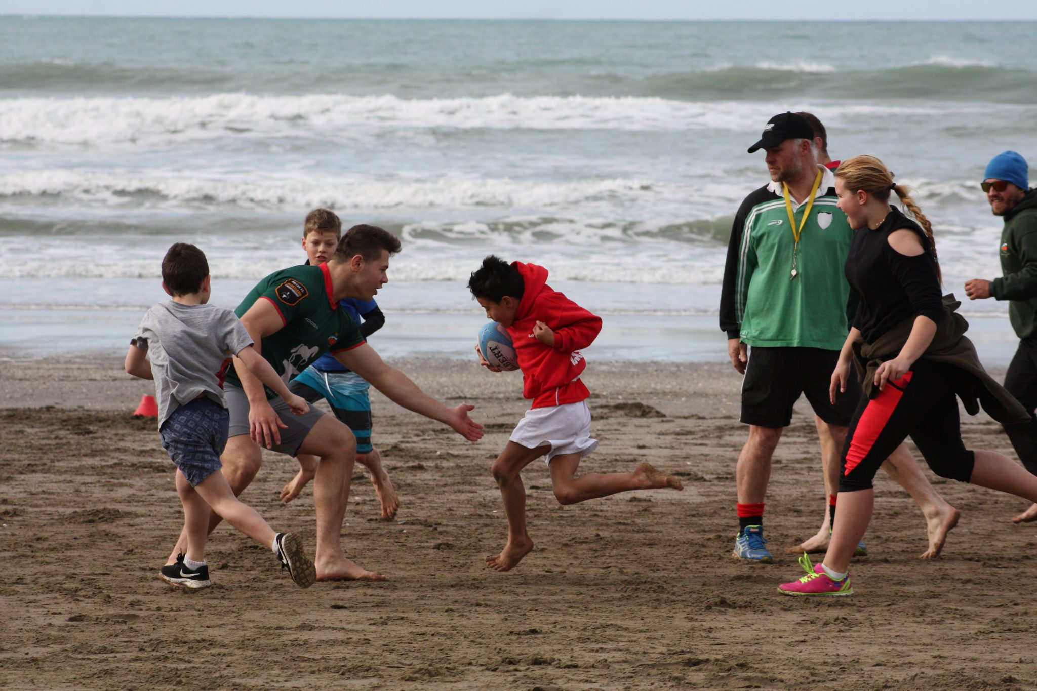 The young ones taught Wairarapa-Bush players a thing or two about rugby. PHOTO/KJ LIDDLE